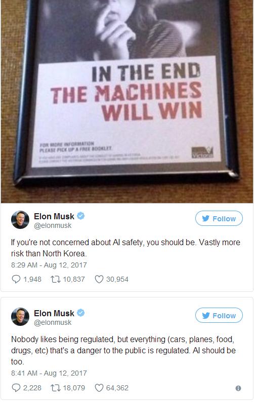马斯克再发警告:人工智