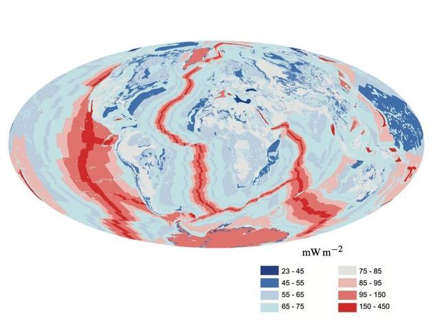 地球热量流动地图。