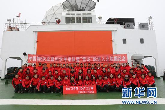 中国科考队首次穿越北冰洋中央航道