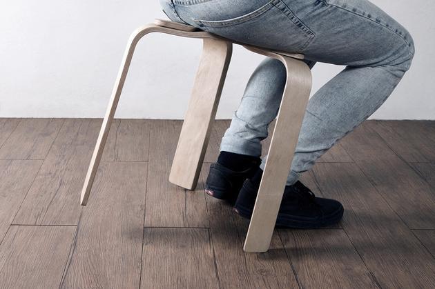 奇思妙想家居秀:木片和磁铁做的凳子你敢坐吗