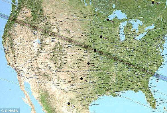 俄勒冈州的林肯海滩将是第一个看到日食的地方,日偏食将出现在当地时间上午9点5分,而日全食将出现在10点16分。最晚看到日全食的地方是南卡罗来纳州的查尔斯顿,出现在当地时间下午2点48分。