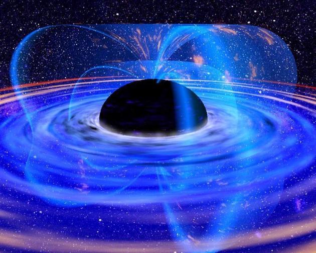 黑洞事件视界是一个球体或者球状区域,这里任何物质,甚至光线都无法逃逸。但在黑洞事件视界外部,科学家预测黑洞会喷射辐射物质