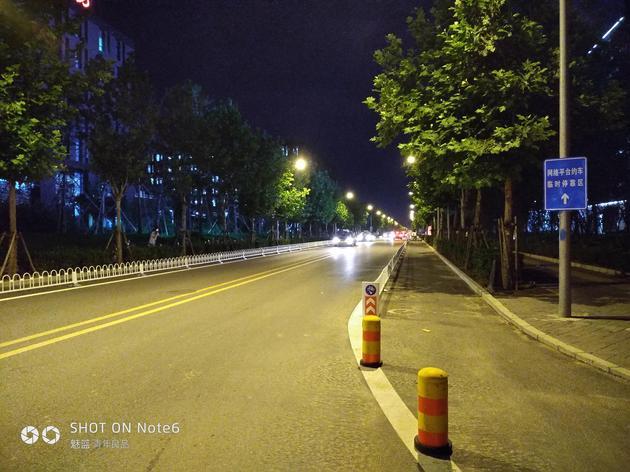 魅藍Note 6夜景拍照樣張