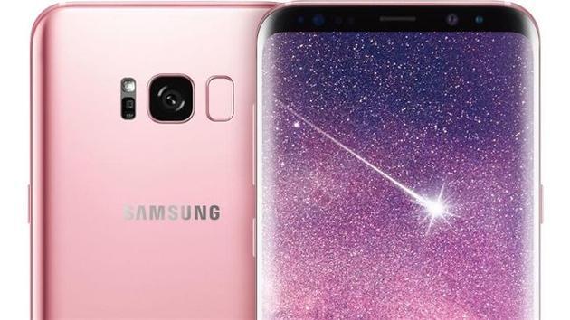 粉色版Galaxy S8效果图