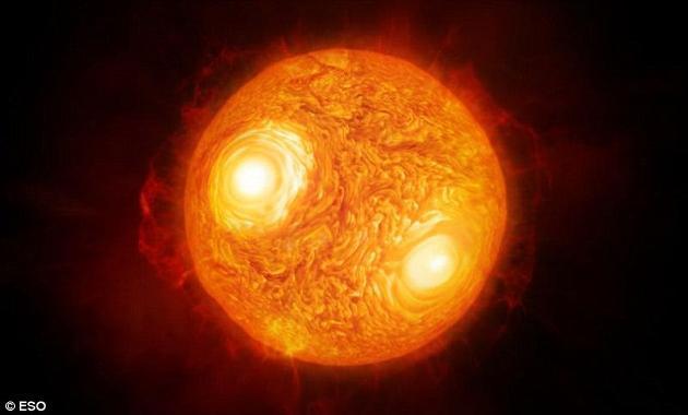心宿二的艺术想象图。心宿二的正式名称是天蝎座α,意思是它是天蝎座中最明亮的恒星。在整个天空中,它的亮度排名第15位