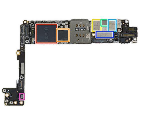 (iPhone 7 主板,图自:ifixit)