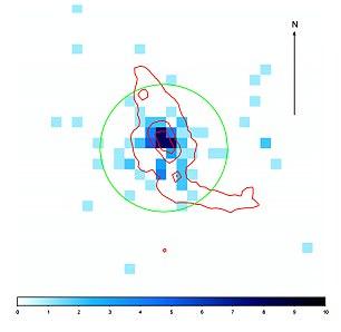 科学家观察的星系编号为Tol 1247-232,距离地球大约6亿光年。这是迄今所知唯三个发射出强烈紫外辐射的星系中的一个。研究组在该星系内部观察到一个单一X射线源,其亮度存在上下波动,判断其可能源自一个黑洞