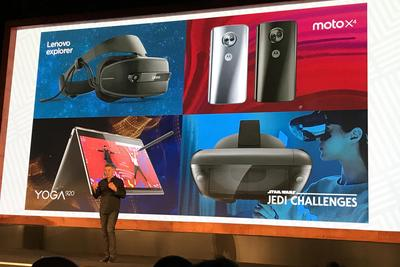 联想发布VR/AR设备:教你用激光剑和黑暗武士决斗