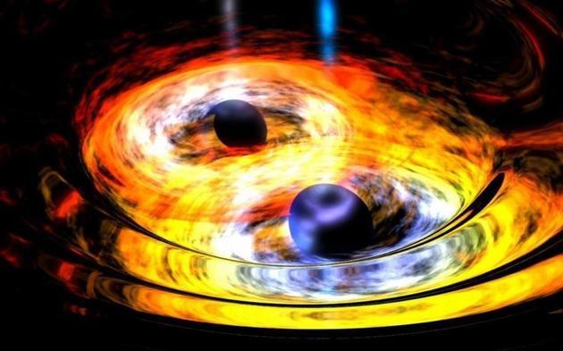 虽然黑洞存在吸积盘,黑洞之间合并产生的电磁信号是无法探测到的。如果存在一个电磁结构,那么这应当是由中子星产生的。