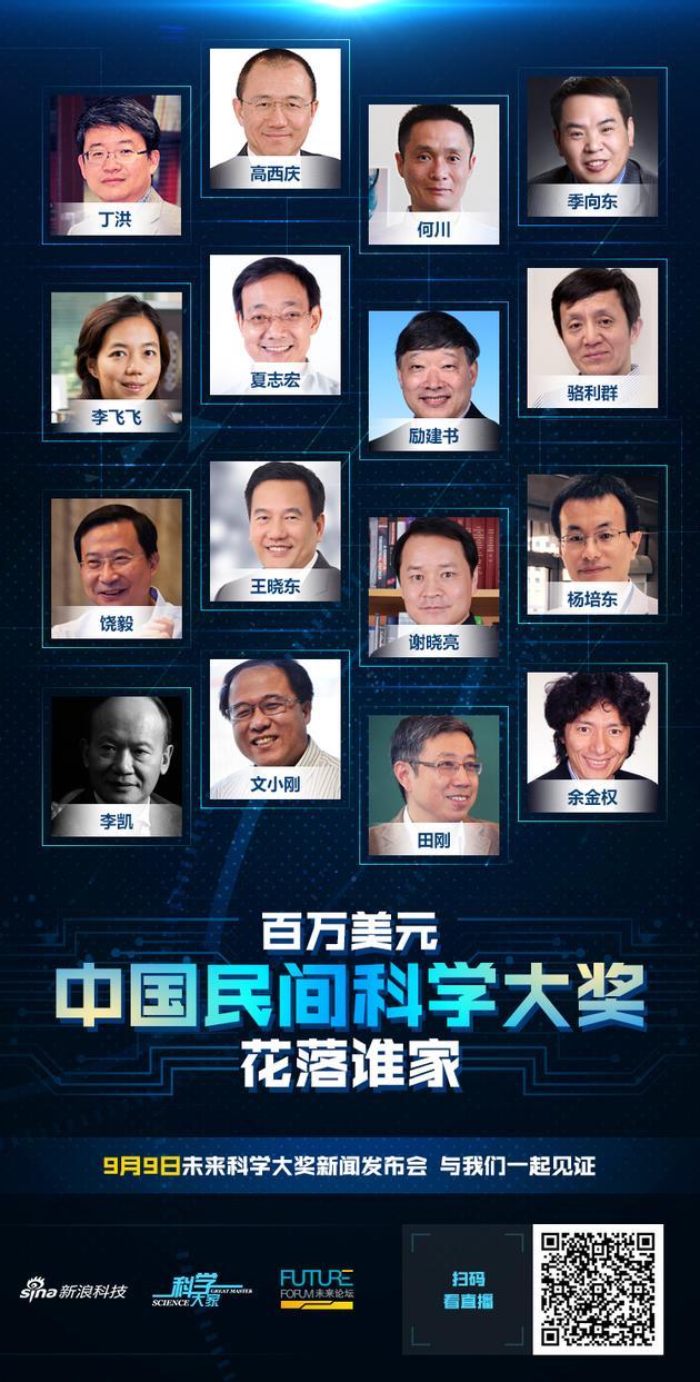2017未来科学大奖获奖名单公布:潘建伟施一公等获奖