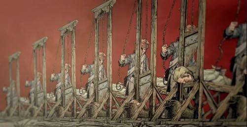 """在法国,""""断头台""""是一个非常可怕的刑罚装置,人们一提及断头台就会胆颤心惊。"""