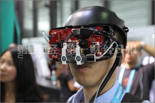 2017亚洲电子展,VR与AR的结合。摄影/高育文