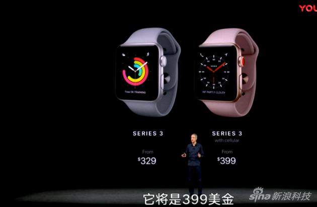 Apple Watch 3售價公佈