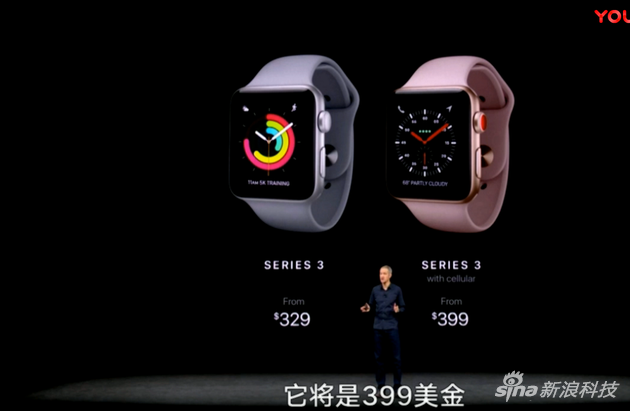 Apple Watch 3售价公布