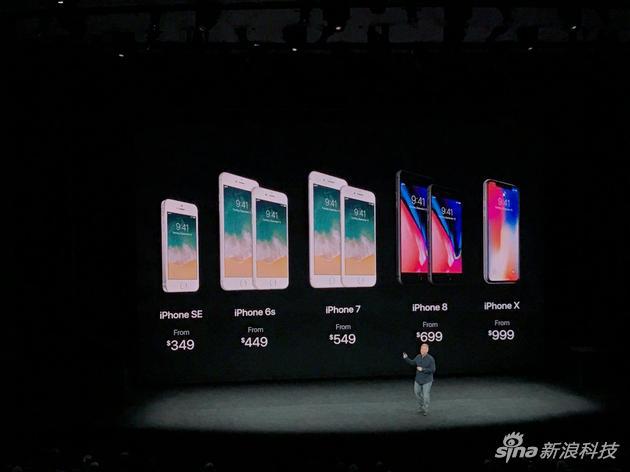 iPhone X售價公佈