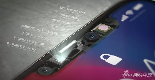 """iPhone X的""""头帘儿""""有玄机"""