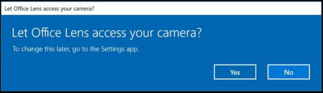 摄像头权限获取对话框