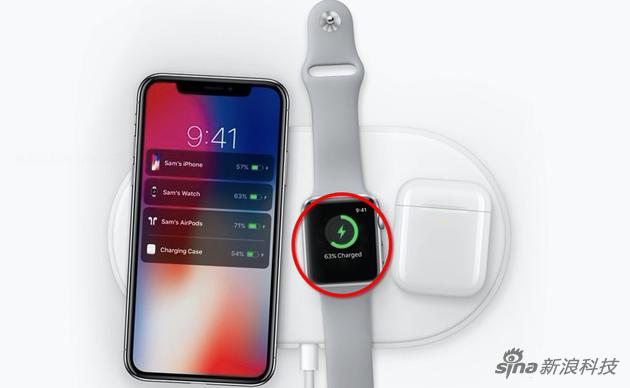 AirPower上的三个设备都在无线充电 但手表其实不是Qi标准