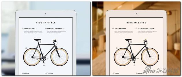 苹果官网针对iPad Pro做的True Tone效果对比