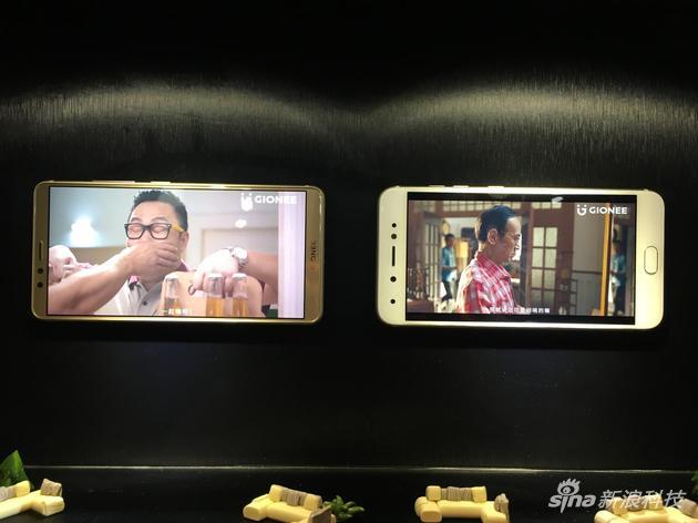金立M7與非全面屏手機電影對比