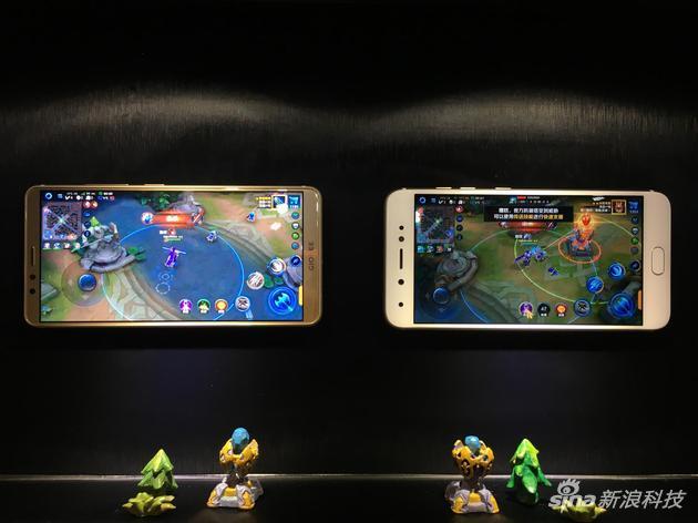 金立手機與非全面屏手機游戲對比