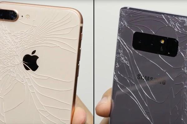 iPhone 8与Note8抗摔测试:都很惨 还是带个手机套吧