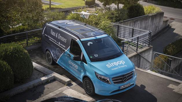 瑞士快递新招:无人机远程运输 货车负责送货上门