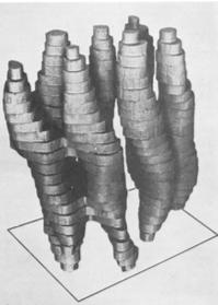 图二:图为1975年发布的首个细菌视紫红质粗略模型。图源《自然》第257期28至32页。