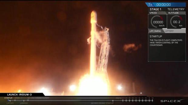 2017年10月9日,SpaceX公司的猎鹰9号运载火箭从加州范登堡空军基地发射升空。