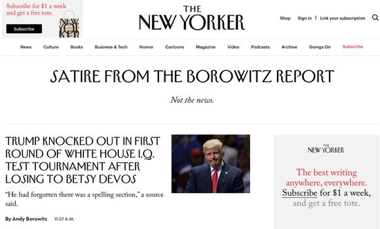 《纽约客》杂志的恶搞专栏《博洛维茨报告》