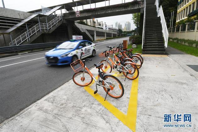 """停在""""格子""""中!共享单车在新加坡的管理模式(组图)"""