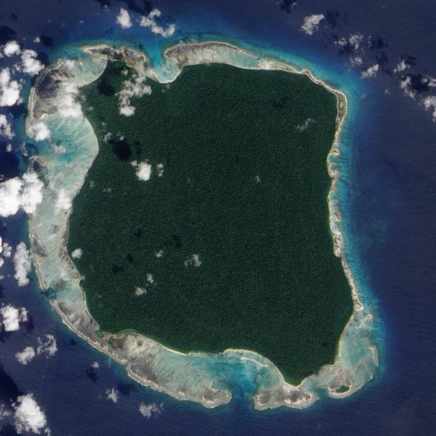 北桑提内尔岛的卫星图片