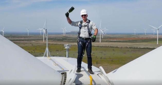 亚马逊最大风电场投入运营 位于美国德州