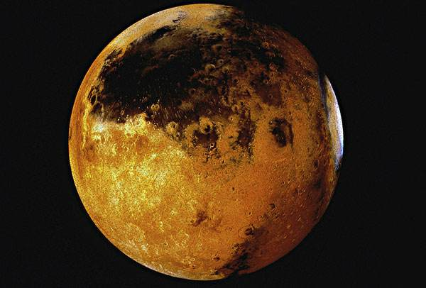 """火星""""隐形""""的磁尾 与太阳风相互作用发生扭曲"""