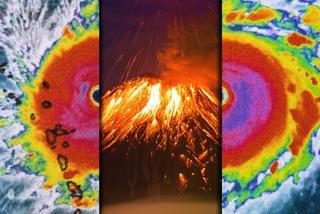 超级飓风遇上火山爆发会怎样?