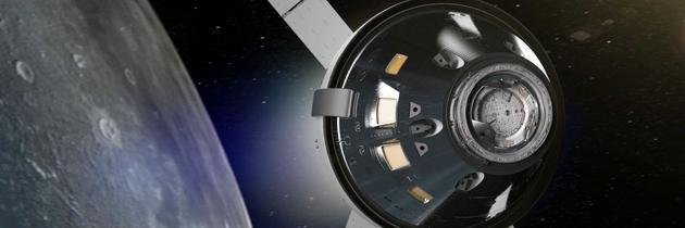 """2020-2025年,宇航员将乘坐""""猎户座""""飞船,它将使用美国宇航局太空发射系统(SLS)发射,SLS是一种模块化重型运载火箭。"""
