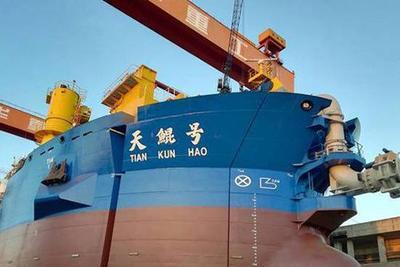 """中国新一代""""造岛神器""""下水 远程输送能力世界第一"""