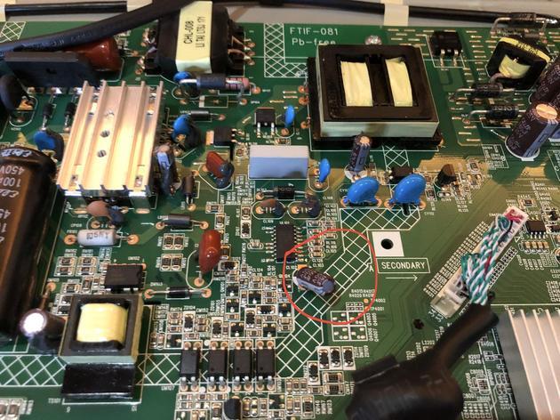 """45寸电视机""""电气间隙和爬电距离测试""""结果为不合格"""
