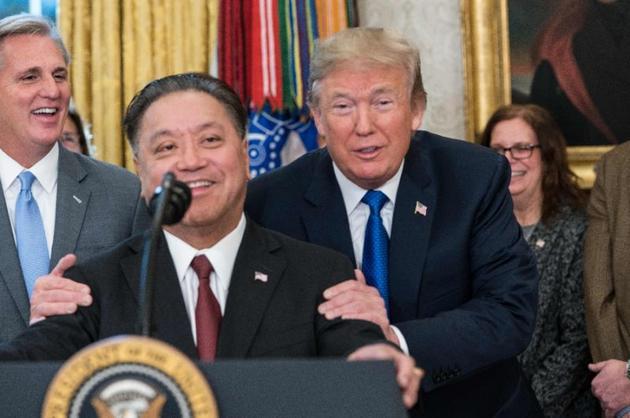 陳福陽與美國總統談笑風生