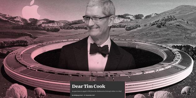 德媒给库克发公开信:苹果海外收益税率只有1