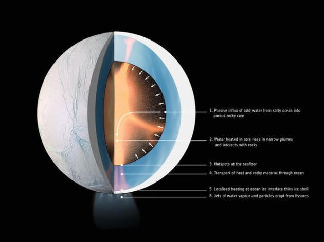 土卫二的内层结构