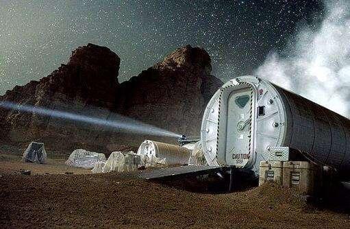 """美国密歇根大学亚伦__雷德利(Aaron Ridley)说:""""在火星表面建造一个殖民基地极具技术挑战,并且费用昂贵。"""