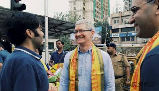 库克在2016年曾亲赴印度