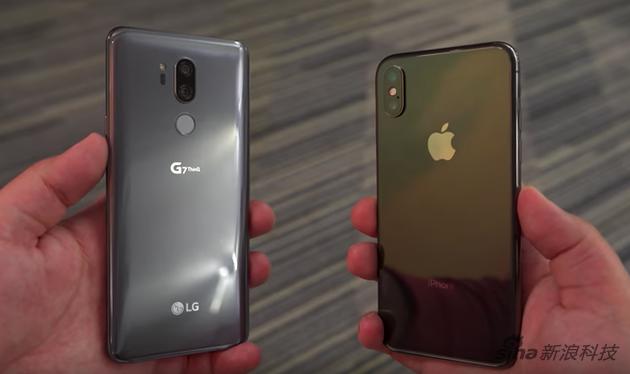 LG G7 ThinQ与iPhone X比较