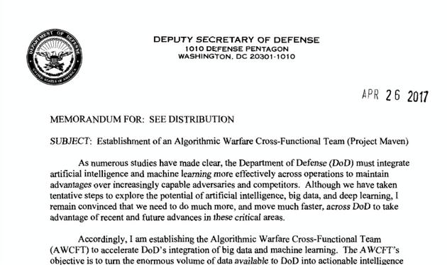 谷歌执意将AI技术用于美军无人机 员工愤起抗议无效辞职