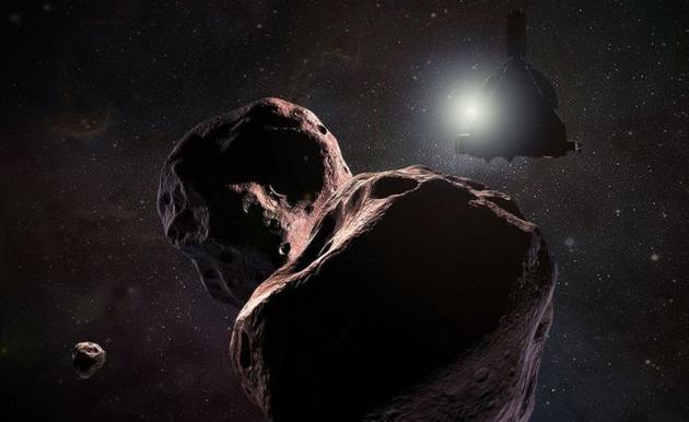 """在飞越冥王星之后,""""新视野号""""飞船正在继续朝着柯伊伯带深处飞行,预计将在2019年1月1日飞过一颗编号为2014 MU69的冰冻小天体"""