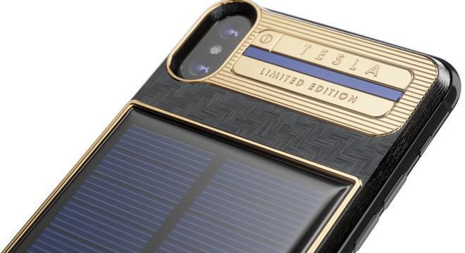 这款装有太阳能电池的iPhone X有一个电动跑车的名字