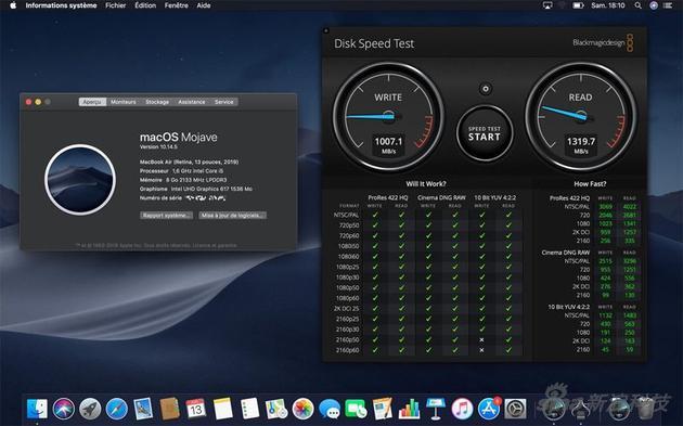 2019款MacBook Air硬盘测试图