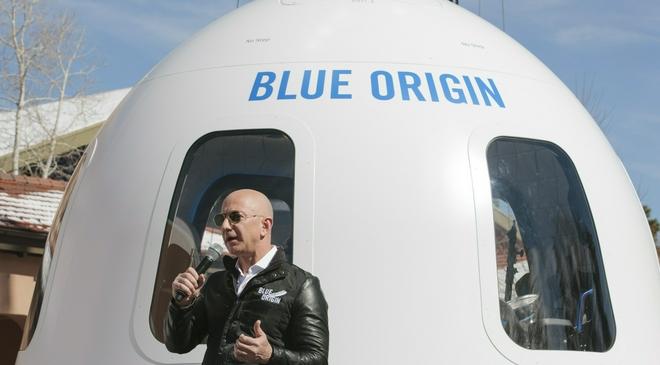 """贝索斯也将飞往太空 交通工具比布兰森""""传统""""了点"""