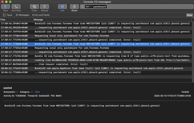 iPhone出现未经许可就可读取剪贴板的iOS应用(图片来自@macrumors)